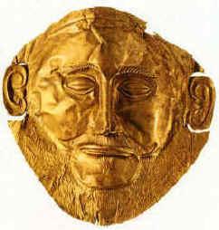 Agamemnonova posmrtná maska.