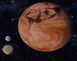 Planéta Arrakis z filmu Duna (1984).